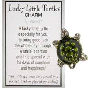 GANZ 2 Lucky Little Turtle Charms Fairy Garden